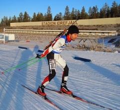 Víctor Lobo en la copa del mundo de Biatlón