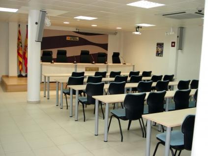 Sala de prensa.