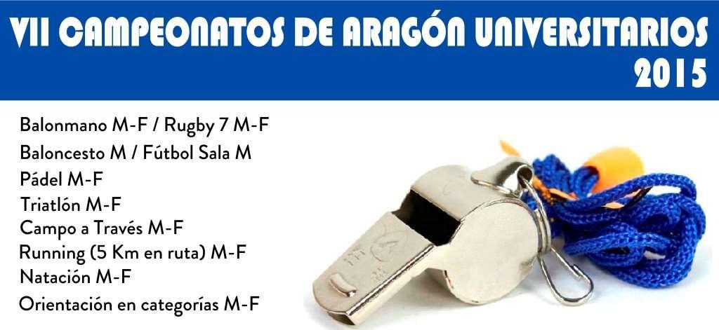 Inicio del VII Campeonato de Aragon Universitario 2014-15