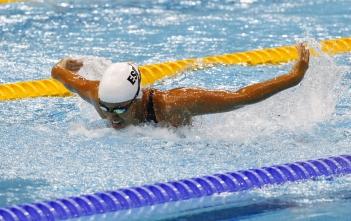 Teresa Perales en el Cº de España por clubes de natación adaptada