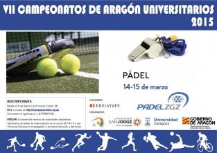Campeonato de Aragón Universitario de Padel 2015
