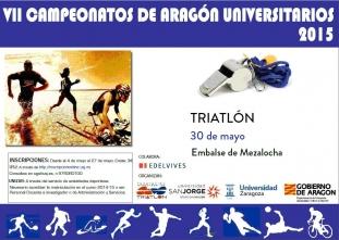 Campeonato de Aragón Universitario de Triatlon 2015