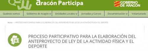 Proceso participativo Ley de la Actividad Física y del Deporte