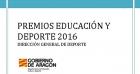 Premios Educación y Deporte 2016