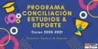 Inicio del registro para el programa conciliación Estudios & Deporte. Curso 2020-2021