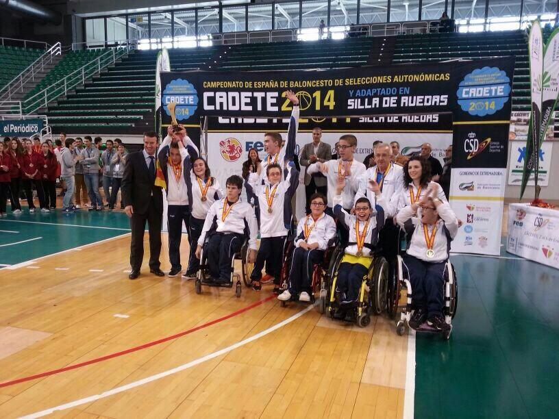 Aragón, campeón de España de Baloncesto Adaptado