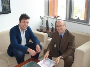 El director se reúne con la Concejalia de Deportes de Teruel